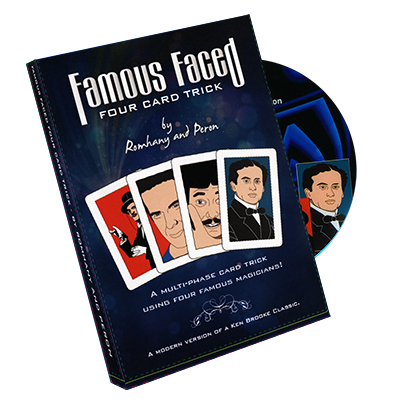 Famous Faced - Four Card Trick by Paul Romhany*