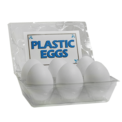 High Quality Plastic Eggs(White / 6-pack)by The Great Gorgonzola