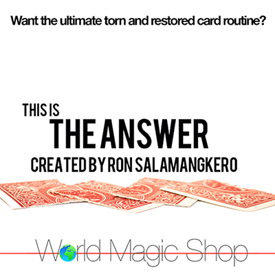The Answer by Ron Salamangkero*
