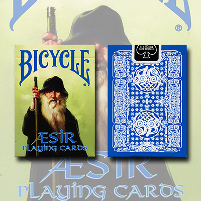 Bicycle Blue AEsir Viking Gods Deck (Blue) by US Playing Card Co