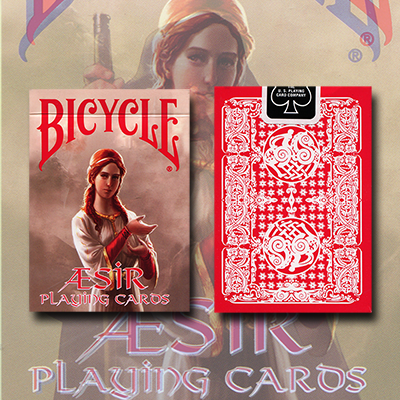 Bicycle AEsir Viking Gods Deck (Red) by US Playing Card Co