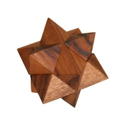 Star Wooden Brain Teaser Puzzle
