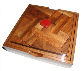 Impossible Square Wood Brain Teaser Puzzle