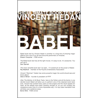 Babel Book Test (single book) 2.0 by Vincent Hedan