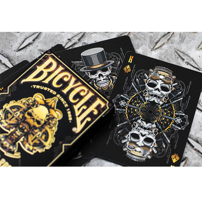 Bicycle Steampunk Deck (Black)  by Gamblers Warehouse