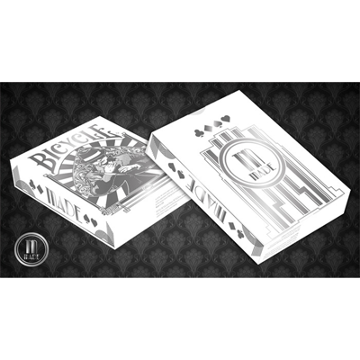 Bicycle Made Silver Deck by Crooked Kings Cards