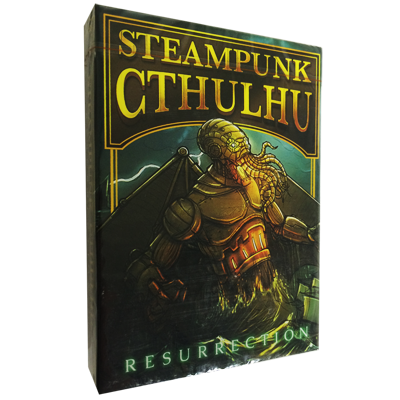 Bicycle Steampunk Cthulhu Resurrection (Green) Deck by Nat Iwata