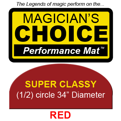 Super Classy Close-Up Mat (RED -  34 inch) by Ronjo