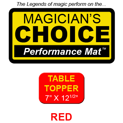 Table Topper Close-Up Mat (RED - 7x12.5) by Ronjo