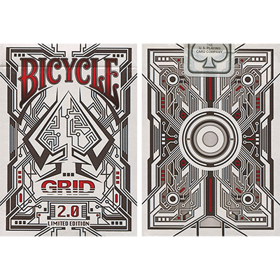 Bicycle Grid 2.0 Red Limited Edition  by Gamblers Warehouse
