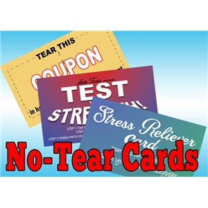 Novelty No Tear Cards