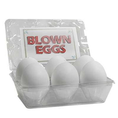 High Quality Blown Eggs(White / 6-pack)by The Great Gorgonzola
