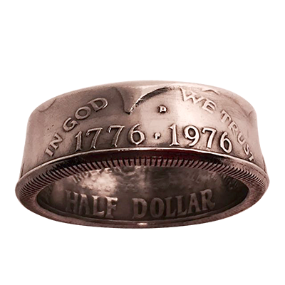Genuine Half-Dollar Ring by Diamond Jim Tyler