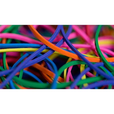 Joe Rindfleisch`s Rainbow Rubber Bands by Joe Rindfleisch