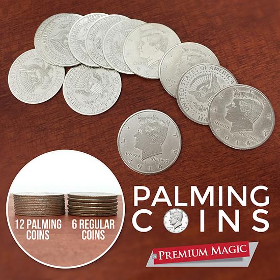 Palming-Coin-Set-U.S.-Half-design-/12-piece-by-Premium-Magic