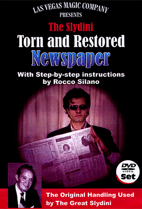 Slydini-Newspaper-Tear-With-DVD-by-Rocco-Silano