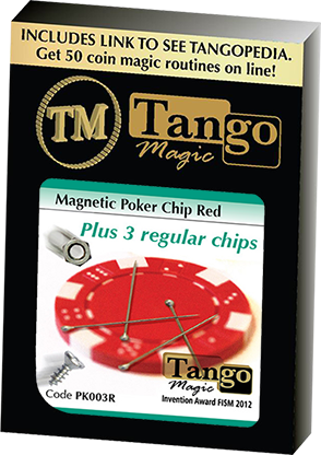 Magnetic Poker Chip plus 3 regular chips by Tango Magic