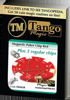 Magnetic Poker Chip plus 3 regular chips by Tango Magic