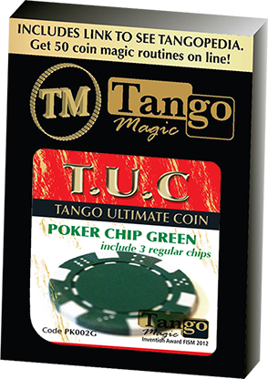 TUC Poker Chip plus 3 regular chips by Tango Magic