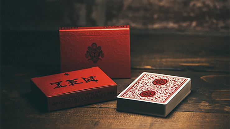 Royal Zen Playing Cards (Red) by Expert Playing Cards*
