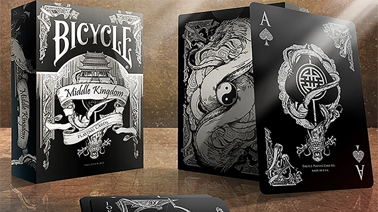 Bicycle Middle Kingdom (Black)  Playing Cards Printed by US Playing Card