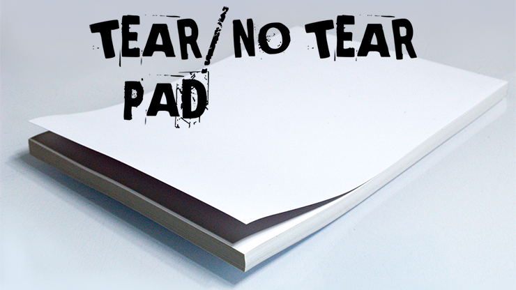 No Tear Pad (XL -  8.5 X 11, Tear/No Tear Alternating/ 50) by Alan Wong
