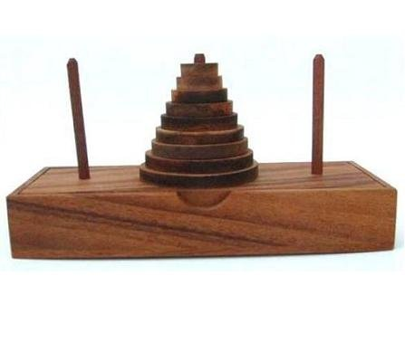 Tower of Hanoi Wooden Brain Teaser Puzzle