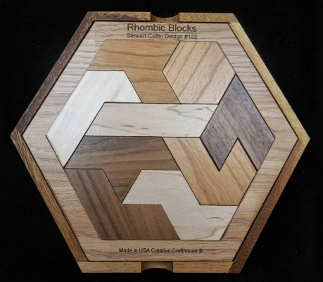 Rhombic Blocks Brainteaser Puzzle