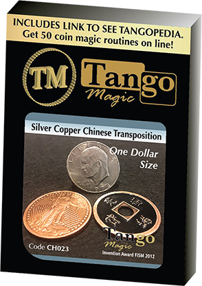 Dollar Size Silver Copper Chinese Transposition by Tango Magic