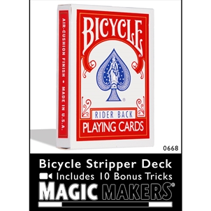 Bicycle Stripper Deck Red With 10 Bonus Tricks
