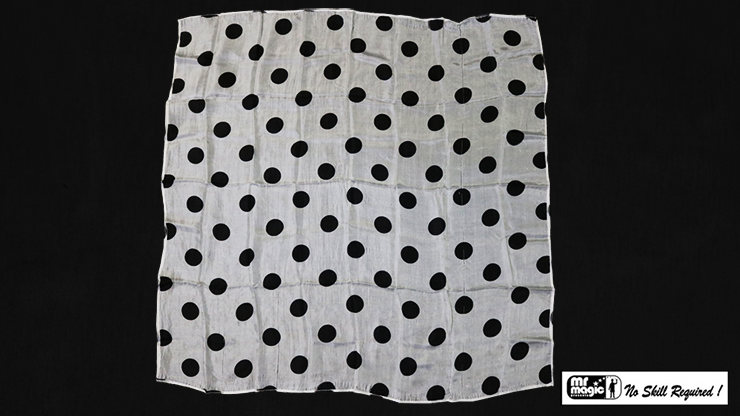 Polka Dot Hanky, Black on White