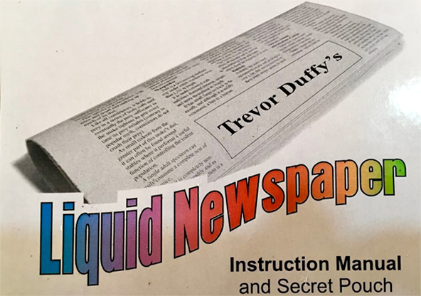 Liquid Newspaper by Trevor Duffy