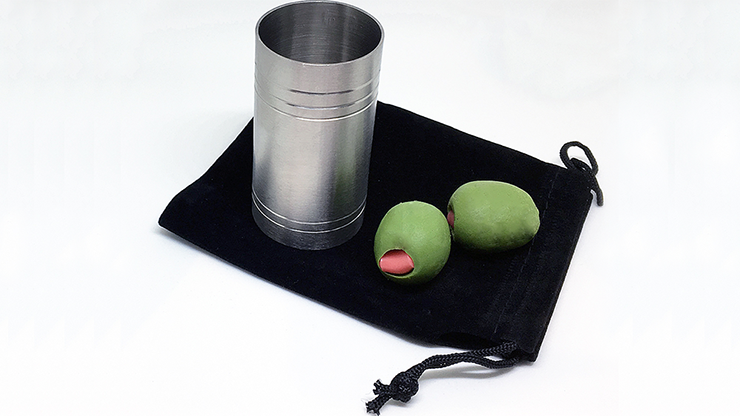 "Spirit/Shot Measure ""Chop Cup"" with Olives By Mike Busby"