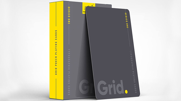 Grid Typographic Playing Cards*
