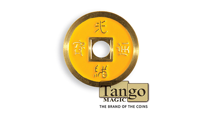 Dollar Size Chinese Coin (Yellow and Red) by Tango