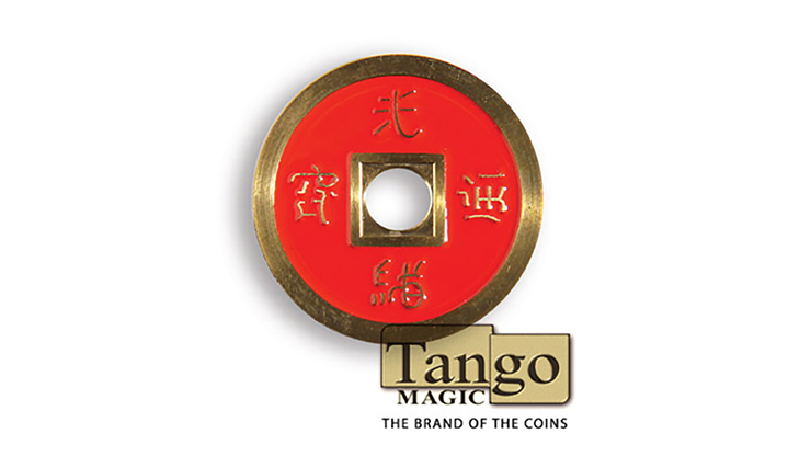 Dollar-Size-Chinese-Coin-Red-and-Blue-by-Tango-CH039
