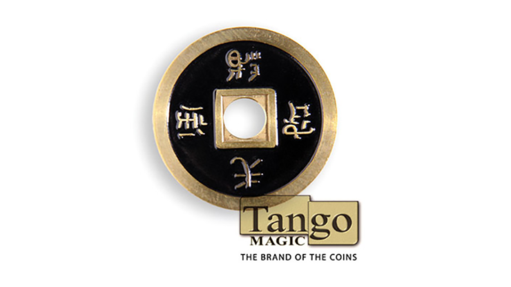 Dollar Size Chinese Coin (Black and Red) by Tango