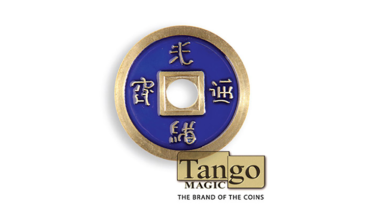 Dollar Size Chinese Coin (Blue and Yellow) by Tango