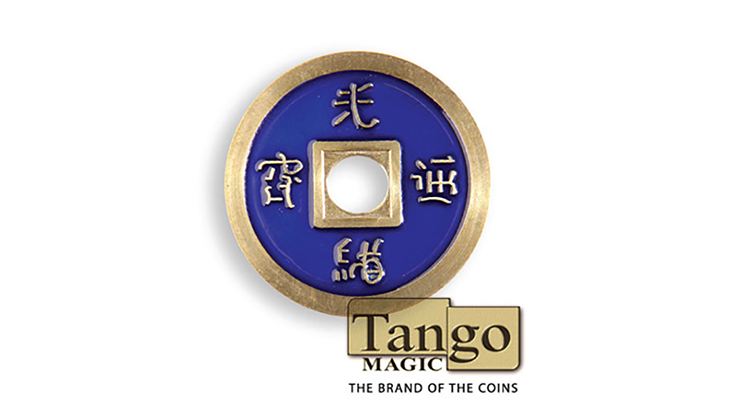 Dollar Size Chinese Coin (Blue) by Tango