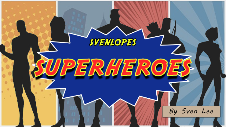 Svenlopes-SUPERHEROES-4-x-6-Black-by-Sven-Lee