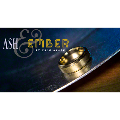 Ash and Ember Gold Beveled Size 14 (2 Rings) by Zach Heath