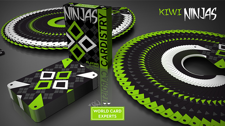 Cardistry-Kiwi-Ninjas-Green-Playing-Cards-by-World-Card-Experts