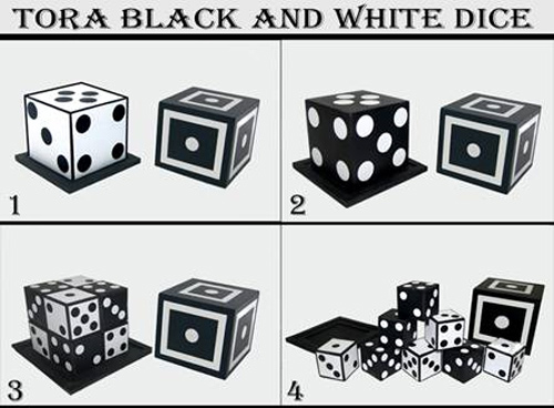 Tora Black & White Dice