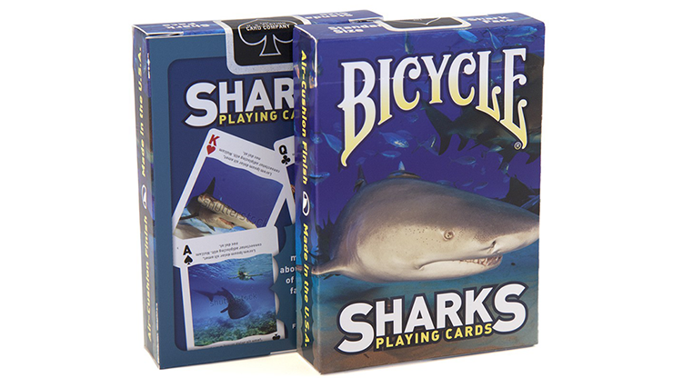 Bicycle Sharks Playing Cards by US Playing Card