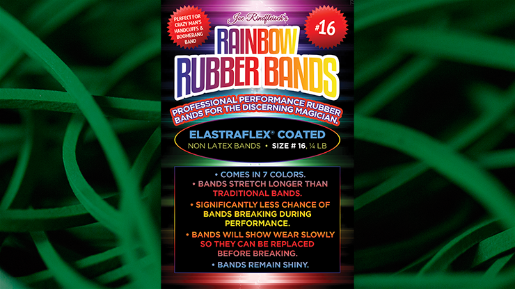 Joe Rindfleisch`s SIZE 16 Rainbow Rubber Bands by Joe Rindfleisch