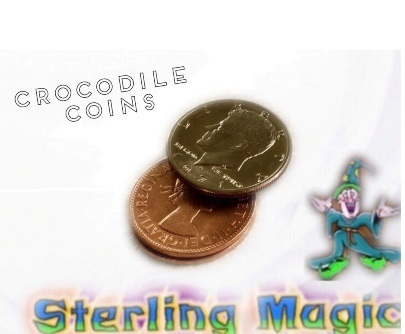 Crocodile Coins by Sterling Magic