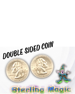 Double Side Quarter, Heads by Sterling Magic