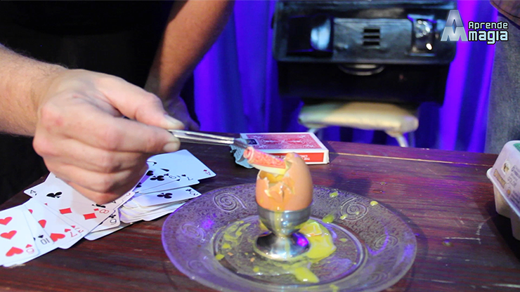 THE CARD INTO THE EGG by Alan Alfredo Marchese