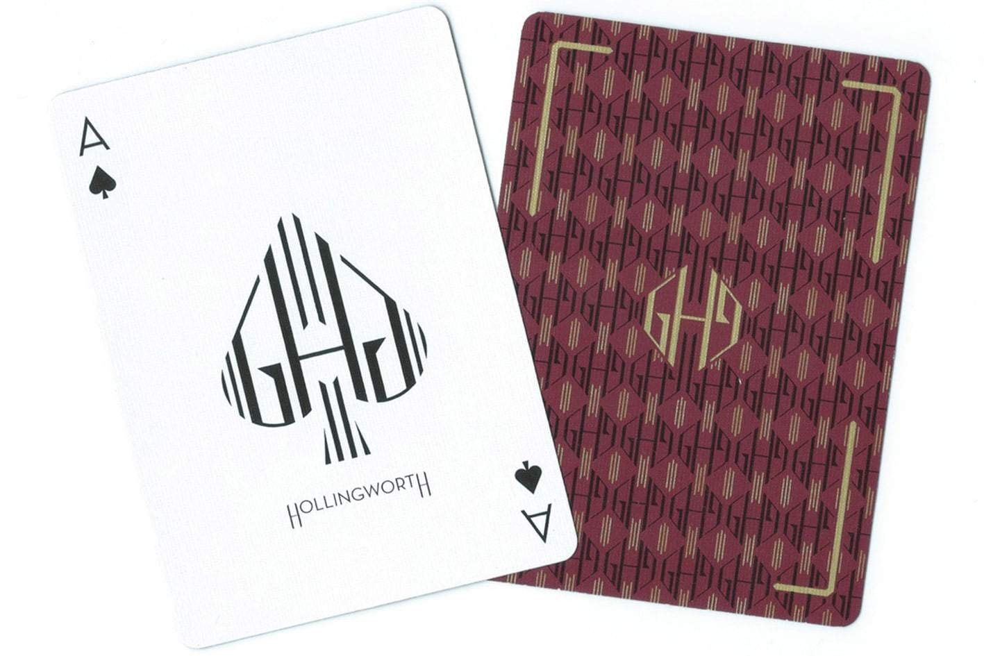 Guy Hollingworth Burgandy Playing Cards by Dan and Dave