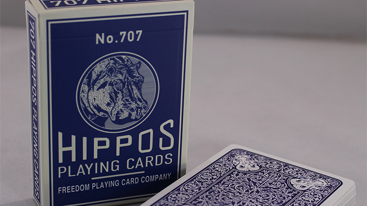 No.707 Hippos Playing Cards